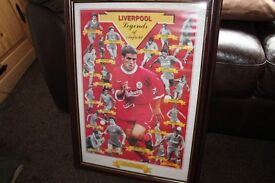 Liverpool and legends picture and frame