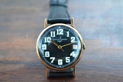 ULYSSE NARDIN VINTAGE & FINE HAND WINDING MILITARY DIAL FROM 1940s WristWatch