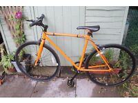 BRAND NEW Orange Feral Fixie 52cm Road Bike For Sale