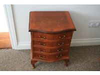 Small reproduction Bow fronted Draws