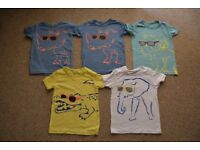 5 ASSORTED CHILDREN'S T SHIRTS * AGE 4/5 * VERY GOOD CONDITION