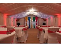 Marquee hire, Chocolate fountain, candy floss, Photobooth, chair covers, Backdrop