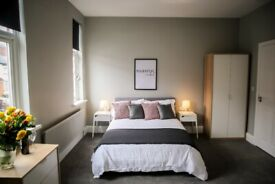 😲(En-suite) Double Room -7 min walk to high street! B14