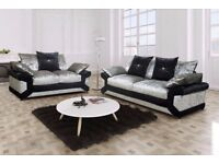 **BEST IN TOWN** BRAND NEW DINO CRUSHED VELVET CORNER OR 3+2 SEATER SET -FAST DELIVERY SOFA