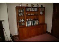 G Plan teak wall unit/display cabinet