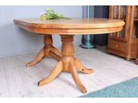 DELIVERY OPTIONS - SOLID PINE TABLE FARMHOUSE STYLE EXTENDABLE WAXED THICK PINE