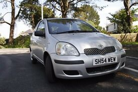Toyota Yaris 2004 with 12 month MOT no recommendation. 74000 miles 1.0 litre engine