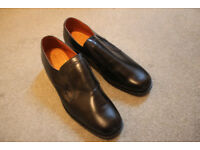 Black Savile Row All-Leather Men's Shoes, Size 11, in original box. Made in England!