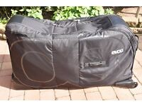 Evoc black cycling travel / flight bag for road and mountain bike with road bike adapter used once