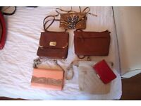 selection of purses and hanbags some are vintage