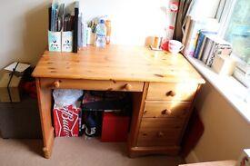 Pine Wooden Desk (price reduced)
