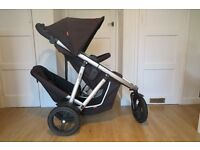 Phil and Teds Vibe double buggy Excellent Condition includes rain covers and bag carrying clip