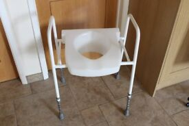 WC Toilet Aid Over Toilet Seat with Frame Raised Seat