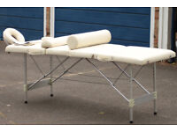 Portable Heavy Duty Adjustable Massage Table and Accesories For Sale.