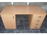 Desk Unit with Drawers and Cupboard