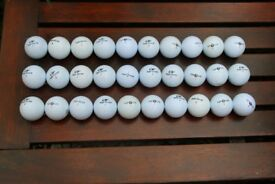 30 used Tip Flite golf balls in good condition