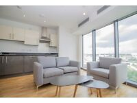 Lovely modern 1 bed apartment in Stratford E15 E20 - gym & private balcony - 9th floor & river views