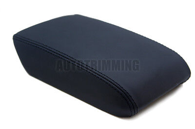 Fits 08-17 Audi A5 Faux Leather Armrest Center Console Lid Cover Black