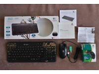 Logitech K360 Wireless Limited Edition Keyboard & Wired Mouse-Unused.