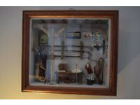 Antique Vintage Golf themed Detailed Diorama / Shadow Deep Framed Box Wall Mounted