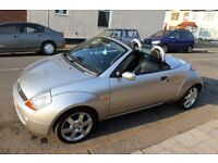 2006 FORD STREETKA ICE, CONVERTIBLE, CHEAP TO RUN CHEAP TO INSURE 1 YEAR MOT, FULL FORD SERVICES