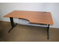 """Bisley Wings """"L"""" Desk in Cherry 160 x 80 x 60 Right Hand"""