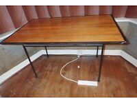 Dining table wooden top metal frame FREE to collect from Claygate, Surrey