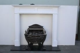 Lovely Fire Basket Comes With Hearth & Wooden Mantle! Perfect For Cosy Living Room! ONLY £140