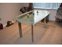 Glass and Chrome modern dining room table £30