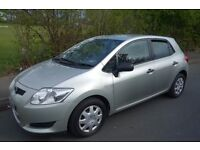 2008 58 Plate Toyota Auris 1.4 Petrol, 5 door, 2 Former Keepers, Part Service history, HPI CLEAR