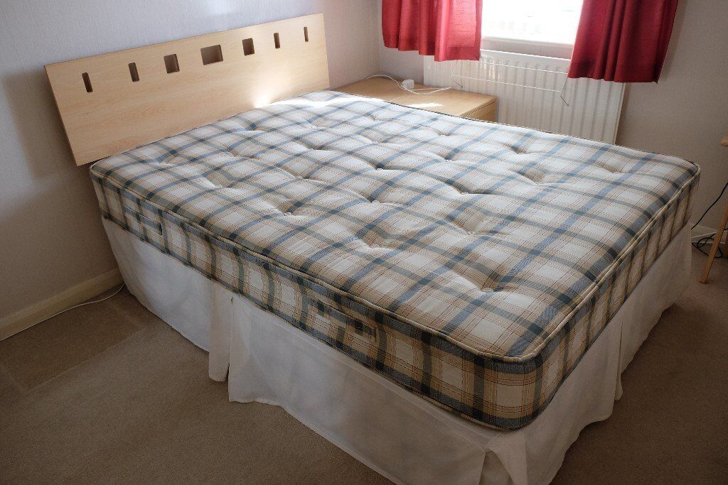 Double Bed - Base, Mattress and Headboard