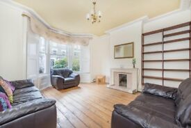 Large 4 bed property spacious private garden fully furnished. wooden floors throughout. 2 receptions