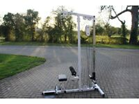 Body Solid lat pulldown machine / low row machine. Commercial or home gym. Plate loaded weights