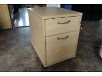 Wood Filing Cabinet with 2 Drawers,stand alone or under Desk.