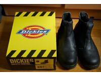 Dickies Mens Black Chelsea Work Boots #FA23345 UK Size 7