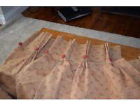 Handmade luxury curtains Drop 2.2m width 80cm