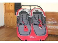 city mini double jogger with carry cot