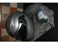 Caberg 104 V2 Double Visor Tech Fog Free Motor Cycle Helmet with holdall Size XL