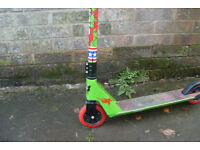 Childs or youths Stunt Zombie brand scooterin good used condition