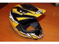 THH TX10 yellow and black helmet motocross size XS child