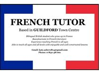 French Tutor (all levels, all ages)