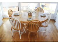 Natural Solid Wood Dining Table Set *Extendable Table *8 Chairs - May Deliver