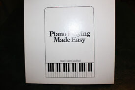 Boxed set of 6 'Piano Playing Made Easy' vinyl