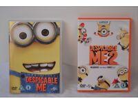 Despicable me & Despicable me 2 DVD's