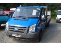 Ford transit 115 t350l flatbed 2.4lt turbo diesel, 2007-07 reg, new MOT upon purchase