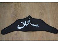 New black white supreme Arabic face neoprene face ski mask