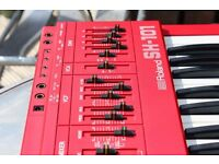 Roland SH-101 (RED) with MG-1 Grip and New BOSS PSU