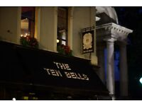 Part Time & Full Time Experienced Bar Tenders Wanted - The Ten Bells Spitalfields