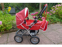 Dolls Red Silver Cross Pram - this is a TOY