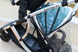 Duellette 21 double buggy with 2 seats (pram stroller)